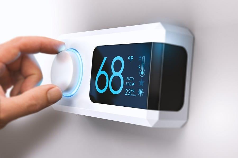 Installed smart termostat